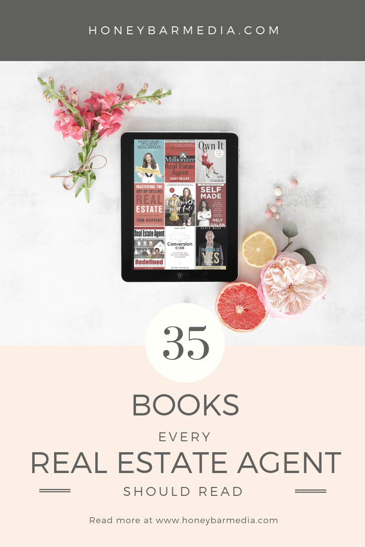 Needing some inspiration in your real estate business? Repin, and then check out the top 35 books every real estate should read for inspiration! #realestateblogger #realestatemarketing #realestateleads #realestatebooks #realestateagent #realestatemarketingideas